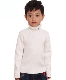 男童高领加厚打底衫