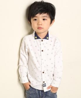 秋款童装韩版儿童长袖纯棉衬衫