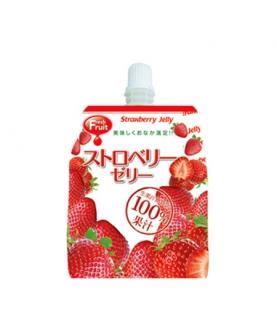 草莓可吸果汁果冻