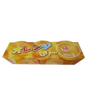 三连托甜橙果汁果冻