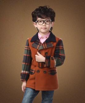 儿童毛呢大衣男童外套