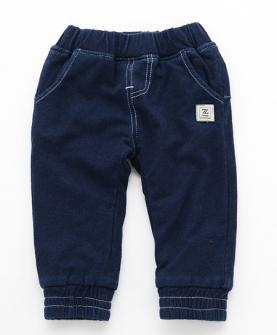 纯色加绒水洗牛仔长裤