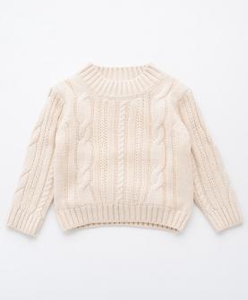 女童套头圆领针织毛衣