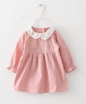 秋款女童蕾丝娃娃领连衣裙