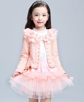 韩版女童长袖三件套