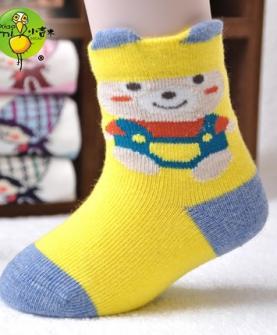 精梳棉松口婴儿袜
