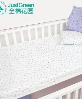 婴儿床单纯棉纱布床笠