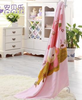 法兰绒婴儿毛毯