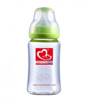 宽口晶钻玻璃奶瓶