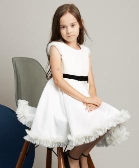 女童无袖蕾丝公主裙