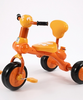 彩灯儿童三轮车防锈宝宝自行车