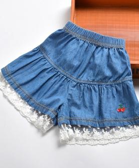 女童短裤中大童牛仔裤