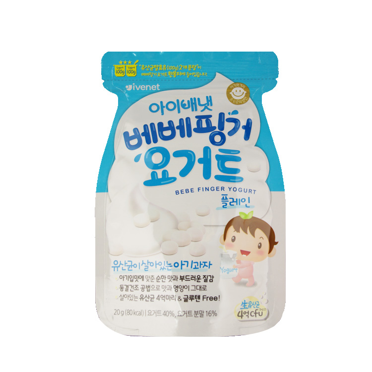 ivenet韩国酸奶溶溶豆(牛奶)喝粥喝原味好图片