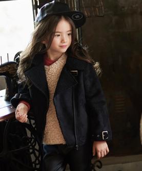 女童磨皮外套