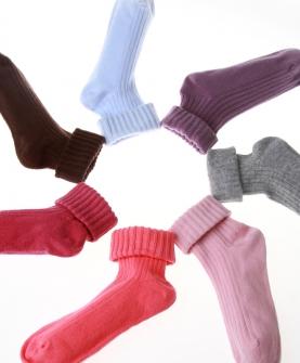 全棉纯棉学生袜子