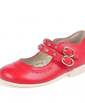 真皮皮鞋软底公主靴