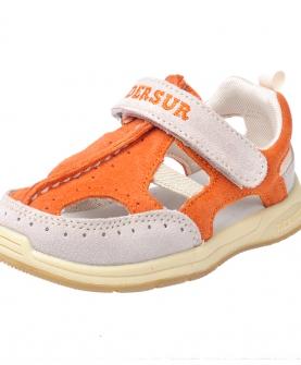 婴儿童真皮软底包头凉鞋