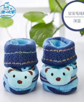 婴儿毛线鞋