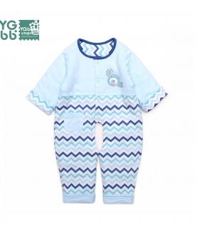 婴儿夹棉连身衣