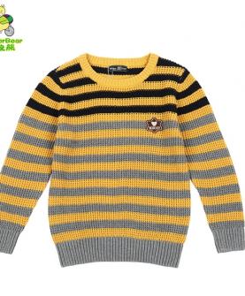 男大童纯棉套头针织衫