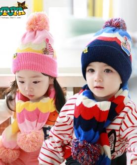 宝宝毛线潮小孩帽
