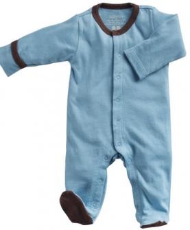 babysoy婴儿长袖薄款包脚连体衣