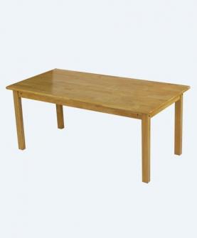 实木六人桌