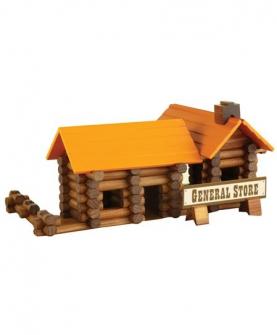 木制木屋积木