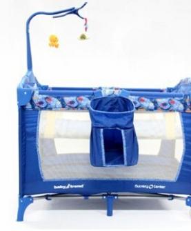 babytrend折叠婴儿床海洋图案便携游戏床