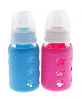 标口晶钻玻璃奶瓶120ML