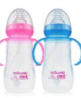 宽口葫芦型硅胶奶瓶硅