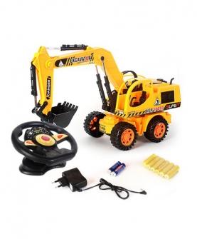 遥控挖土工程车玩具
