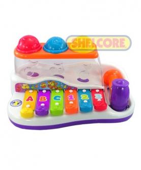 奇趣敲击琴发声玩具