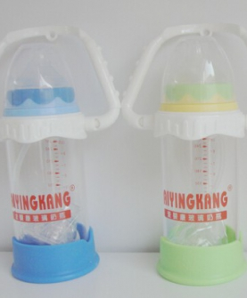 婴儿奶瓶  宽口径防摔防胀气晶钻玻璃奶瓶