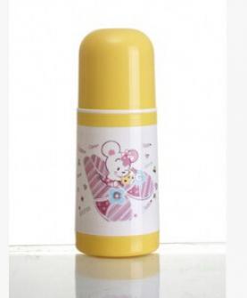 140ML玻璃内胆保温奶瓶 宽口径婴儿奶瓶 卡通保温奶瓶