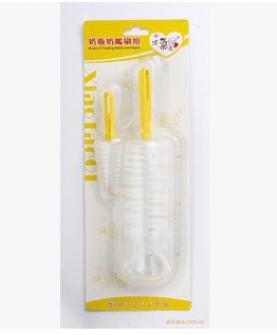婴儿用品 塑料奶瓶刷 奶嘴刷 奶瓶清洁工具