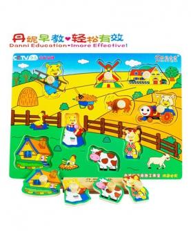 小熊农场拼图益智玩具