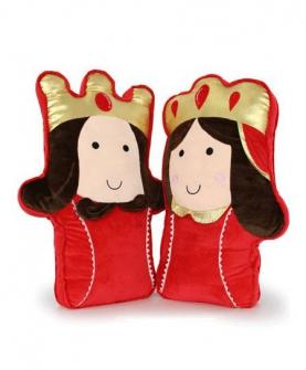 国王王后毛绒玩具