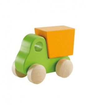 绿色自卸小卡车
