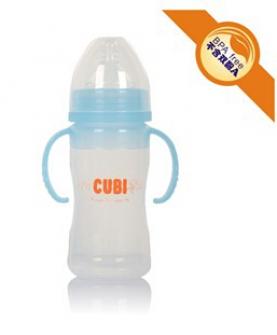 宽口径弧形硅胶奶瓶