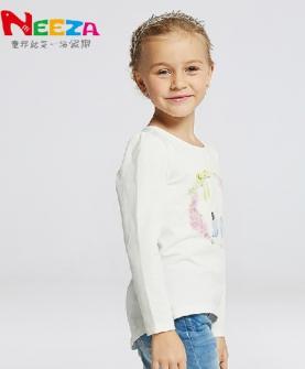 女童长袖T恤