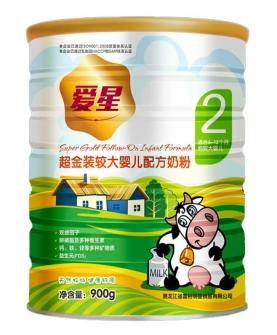 超金装较大婴儿配方奶粉2段