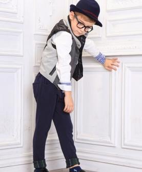 男童衬衫+马甲