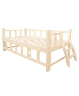 实木儿童床带护栏
