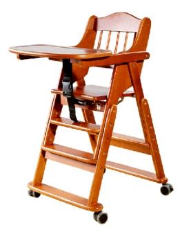 实木儿童多功能餐椅
