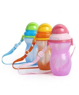 葫芦型儿童便携式软吸管水壶