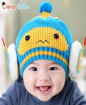 造型毛线童帽机器人
