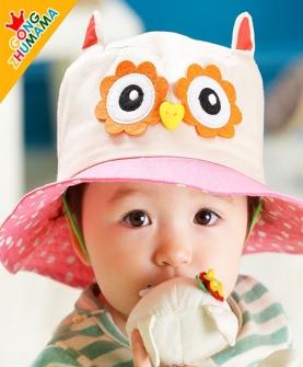 卡通帽婴儿贝雷帽