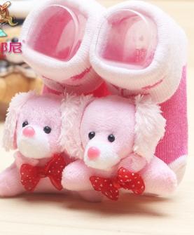 纯棉婴儿立体袜