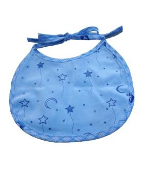 水晶绒印花绑带口水巾
